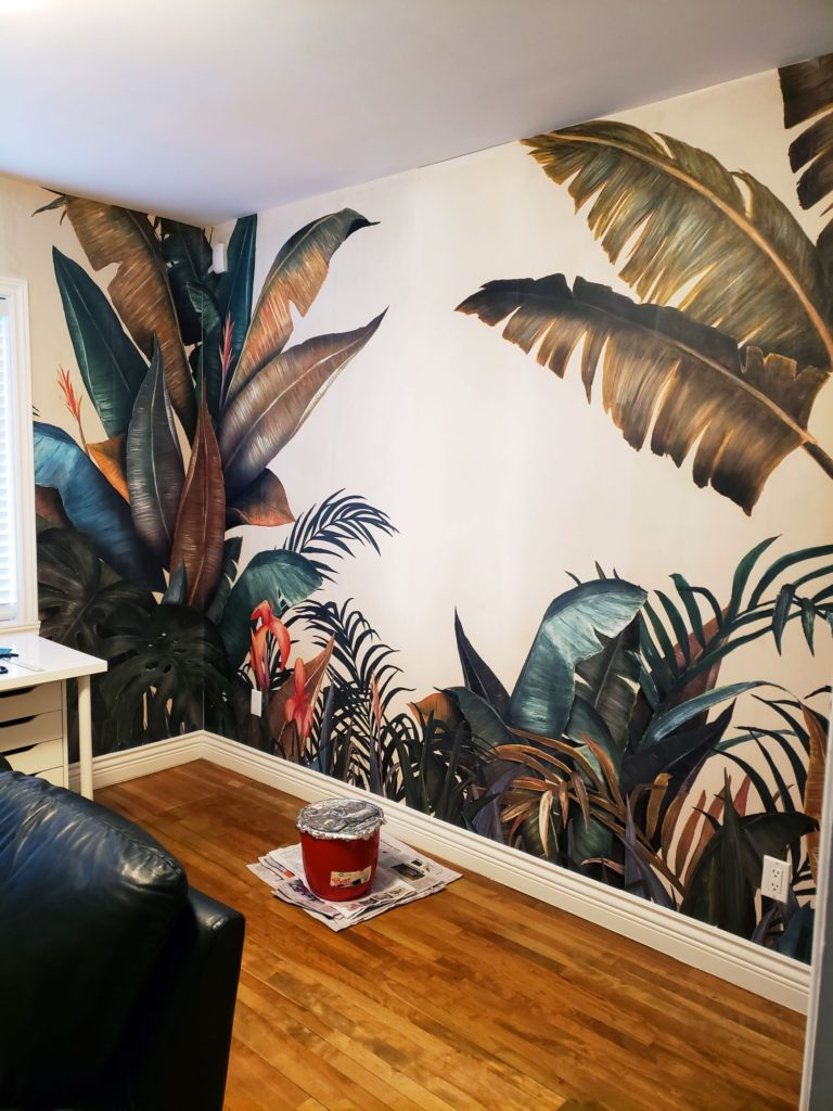 Wallpapered wall - Tracey Mackenzie